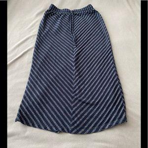 LOFT Striped Maxi Skirt